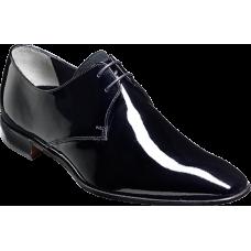 Barker Derby Style Goldington Patent Black Suede Tongue Mens Shoes