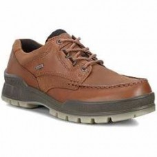 Ecco Track Mens Gore-Tex Brown Leather Shoe