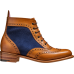 Barker Brogue Boot Style Grace Cedar Calf Blue Suede Wingtip Ladies Boots