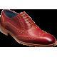Barker Oxford Brogue Grant Rum/Mustard Calf Shoes (07)