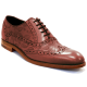 Barker Grant Rosewood Paisley Laser Oxford Lace Up Brogue Shoes