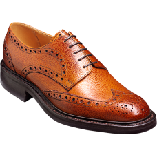 Barker Grassington Derby Wingtip Brogue Style Cedar Grain Shoes (08)