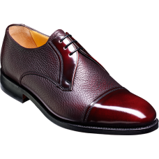 Barker Derby Toe Cap Style Gretna Burgundy Cervo Hi-Shine Mens Shoes