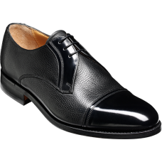 Barker Derby Toe Cap Style Gretna Black Cervo Hi-Shine Mens Shoes