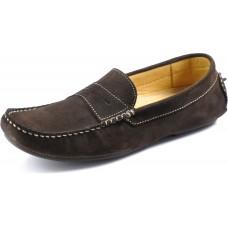 Loake  Herbert Driving Shoe Style Mens Dark Brown Suede Shoe (06½)