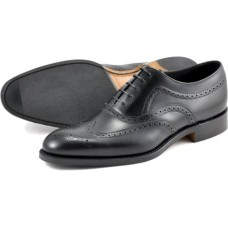 Loake Oxford Brogue Style Heston Black Shoes