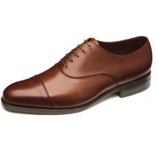 Loake Oxford Style Holborn Mahogany Toe Cap Calf Leather Mens Shoes (08)