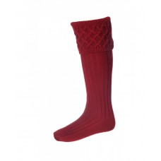 House Of Cheviot Rannoch Mens Brick Red Socks