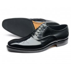Loake Howard Oxford Brogue Style Black Mens Shoes (12)