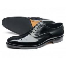 Loake Howard Oxford Brogue Style Black Mens Shoes (12)