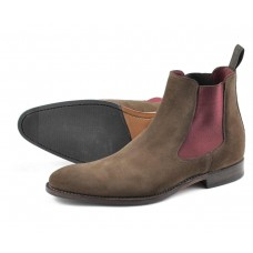 Loake Chelsea Boot Style Hutchinson Brown Suede Mens Shoes
