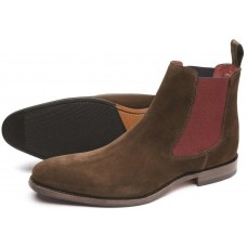 Loake Chelsea Boot Style Hutchinson Mens Brown Suede Shoes (13)