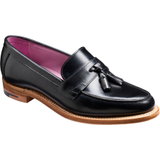 Barker Imogen Slip On Loafer Style Black Calf Ladies Shoe