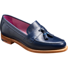 Barker Imogen Slip On Navy Calf Style Loafer Ladies Shoe