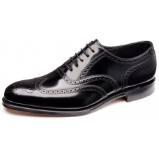 Loake Inverness Oxford Brogue Black Mens Shoes (08)