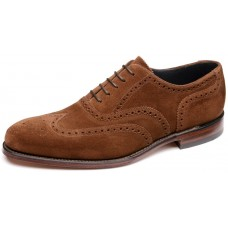 Loake Inverness Oxford Brogue Brown Suede Mens Shoes (08½)