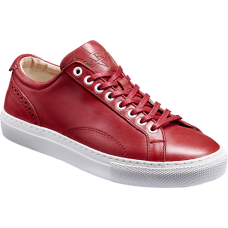 Barker Isla Red Calf Leather Ladies Sneaker (Size 37 UK 4)
