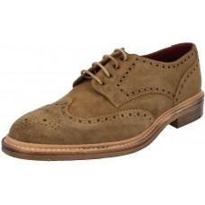 Loake Jack Derby Brogue Tan Suede Shoes (10)