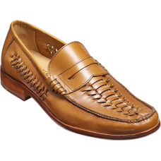 Barker Jake Mocassin Mens Cedar Calf Shoes