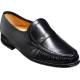 Barker Jefferson Mocassin Black Kid Leather Mens Shoes