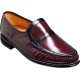 Barker Jefferson Mocassin Burgundy / Black Kid Leather Mens Shoes