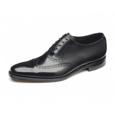 Loake Brogue Oxford Style Jones Black Mens Shoes