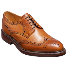 Barker Kelmarsh Derby Brogue Wing Tip Style Cedar Grain Mens Shoes