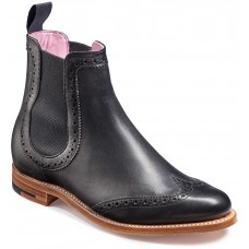 Barker Sabrina Chelsea Boot Style Black Calf Womens Leather Boots (03½)
