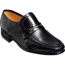 Barker Laurie Mocassin Style Black Kid Mens Shoes (08)