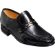 Barker Laurie Mocassin Black Kid Leather Mens Shoes (Size 09½)