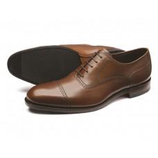 Loake Ledbury Brown Mens Oxford Toe Cap Shoes (11½)