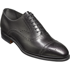 Barker Lerwick Oxford Brogue Toe Cap Style Black Calf Mens Leather Shoes (08½)