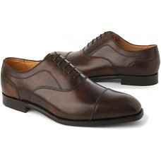 Barker Lincoln Derby Style Acorn Burnished Calf Mens Leather Shoes (05½)