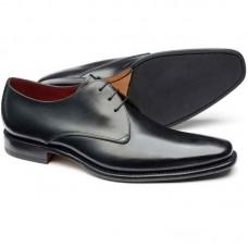 Loake Bressler Black Plain Derby Shoe (09½)