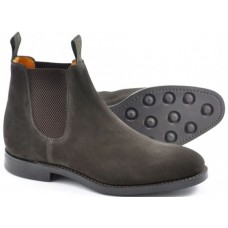 706d12f5a5e9c Loake Chatsworth Mens Dark Brown Suede Chelsea Boots