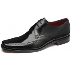 Loake Derby Style Harrison Mens Black Leather Shoes (09)
