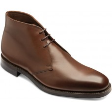 Loake Pimlico Chukka Boot Style Dark Brown Leather Mens Shoes (Size 8)