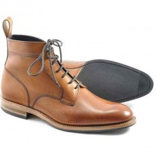 Loake Rooks Tan Brown Mens Derby Chukka Boots (07)
