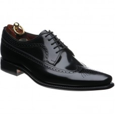 Loake Clint Derby Brogue Style Black Mens Shoes (10½)