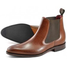 Loake Chelsea Boot Style Hutchinson Mens Dark Brown Shoes (13)