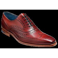 Barker McClean Brogue Style Rosewood Calf Mens Shoe (06)