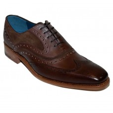 Barker McClean Oxford Brogue Brown Calf Snuff Suede Mens Shoes (11)