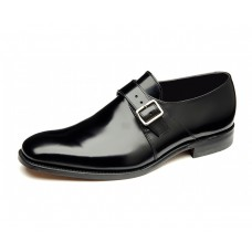 Loake Mc Dowell Monk Strap Style Black Mens Shoes (10½)