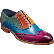 Barker Valiant Oxford Brogue Wingtip Style Multi-Coloured Painted Mens Shoes (07½)