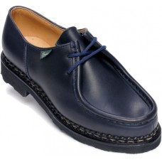 Paraboot Michael Griff Marron Ladies Lis Marine Navy Blue Shoes