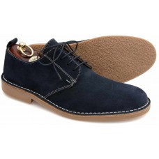 Loake Derby Dessert Boot Style Mojave Navy Suede Mens Shoes