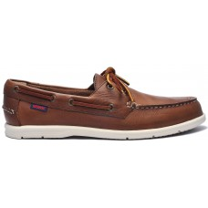 Sebago Docksides Naples 901 Dark Brown Leather Mens Boat Shoes