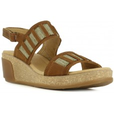 El Naturalista Ladies Leaves Pleasant Wood Sandals