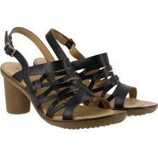 El Naturalista Ladies Trivia Vaquelita Black Sandals