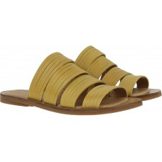 El Naturalista Ladies Tulip Vaquetilla Mustard Brown Sandals
